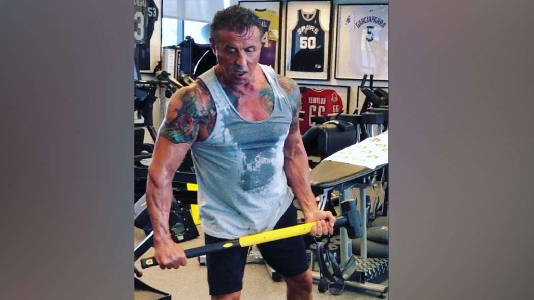 Sly Stallone's Physique Defies Age During Training for 'Rambo 5'  thumbnail