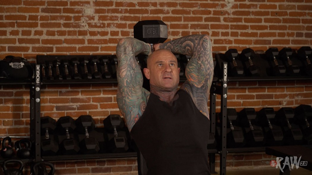 Dumbbell Overhead Triceps Extension Video Thumbnail