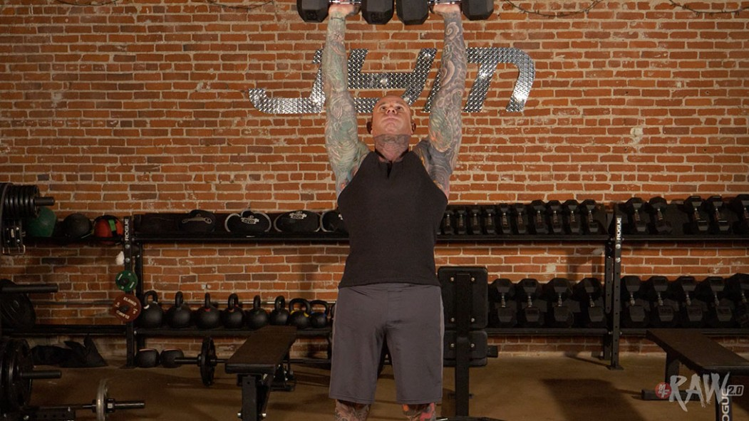 Dumbbell Overhead Press Video Thumbnail
