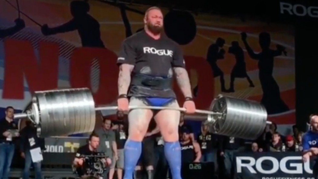 The Mountain breaking yet another deadlift record.  thumbnail