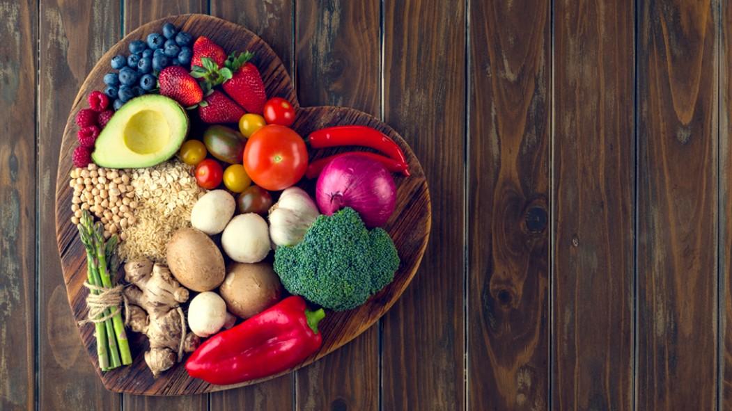 Verduras-Frutas-Miniatura en forma de corazón