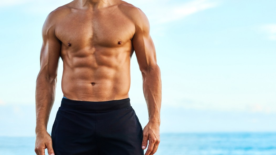 Man on the Beach With Good Abs thumbnail