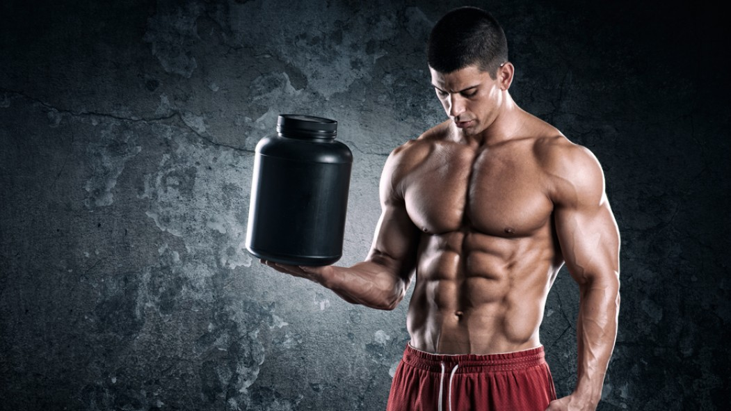 Bodybuilder With Protein Video Thumbnail