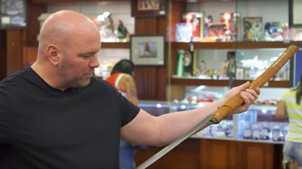 Watch: UFC's Dana White Allegedly Drops $69K Worth of Samurai Swords for His Weapons Room thumbnail