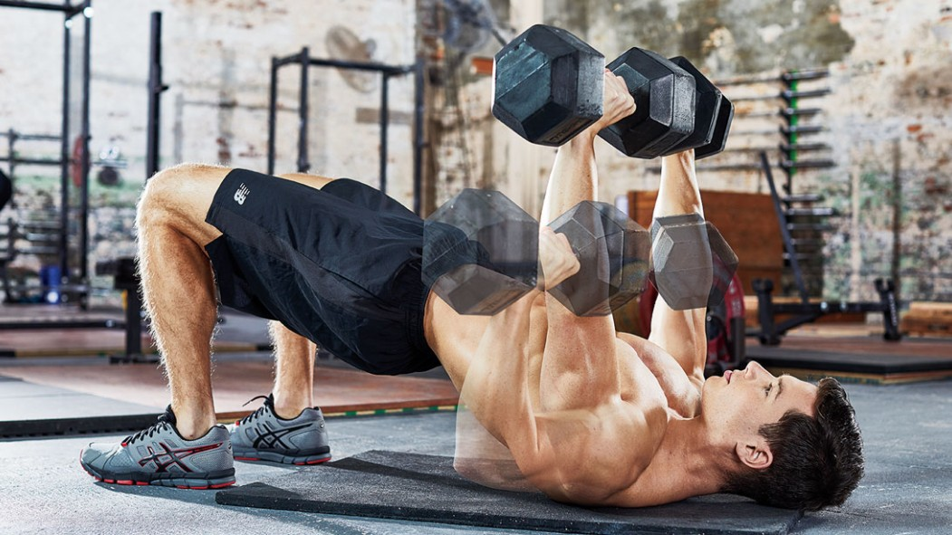 The Dumbbell Hip-Bridge Press to Optimize Your Bench thumbnail