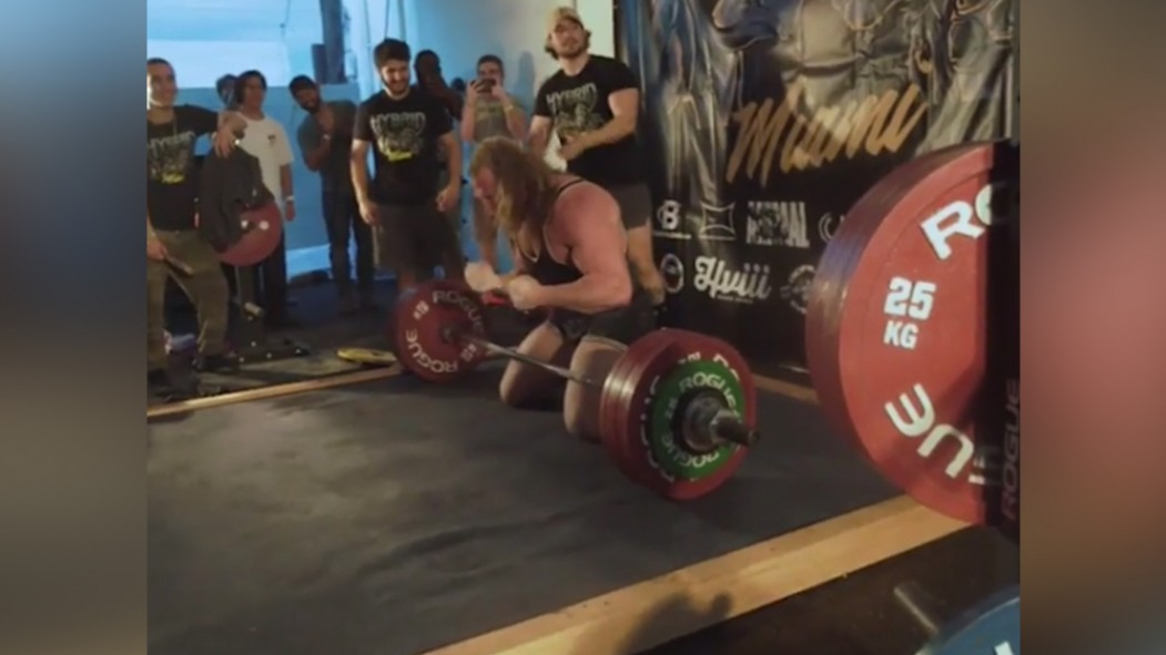 Jujimufu Crushes 666-pound Deadlift, Celebrates With Backflip thumbnail