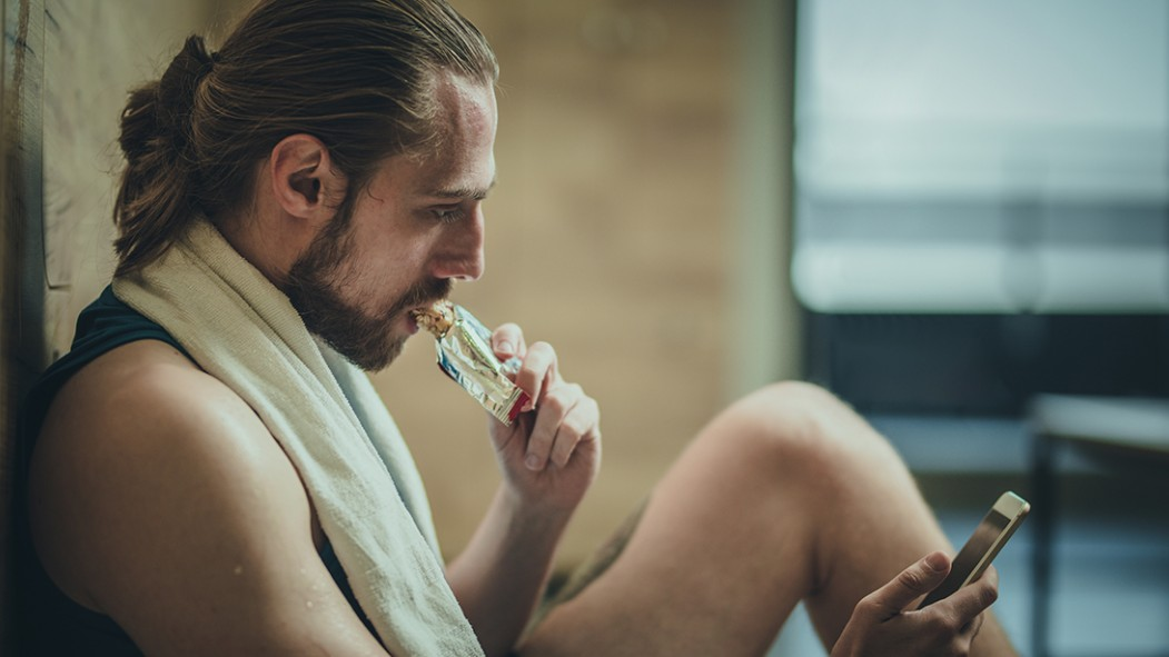 Man Eating Protein Bar thumbnail