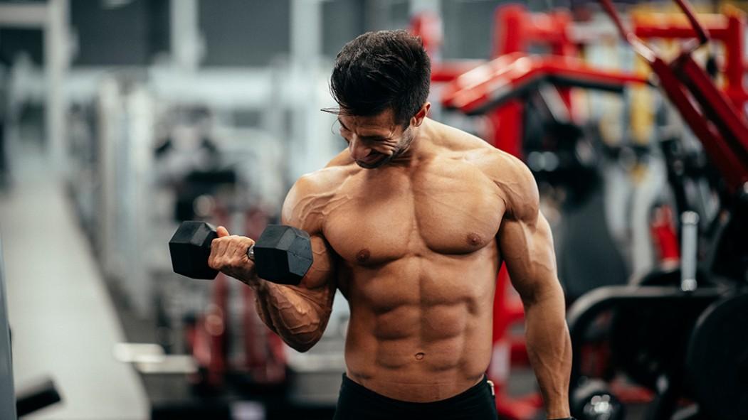 Man Lifting Weights at the Gym  thumbnail