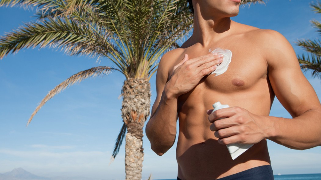 Man Applying Sunscreen thumbnail