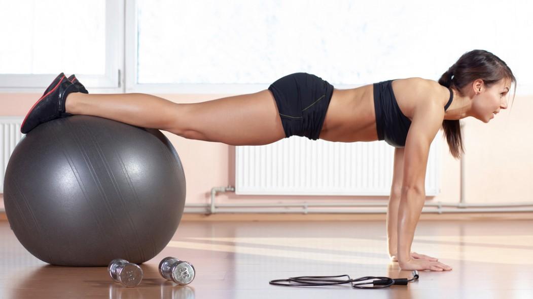 Woman Doing Stability Ball Exercise thumbnail