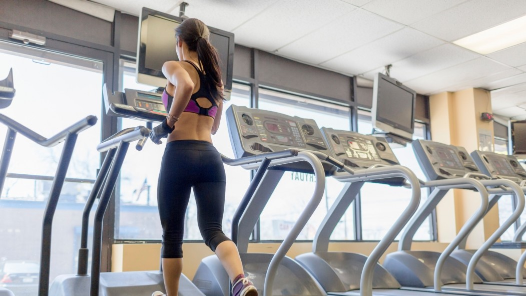 Woman Running on Treadmill thumbnail