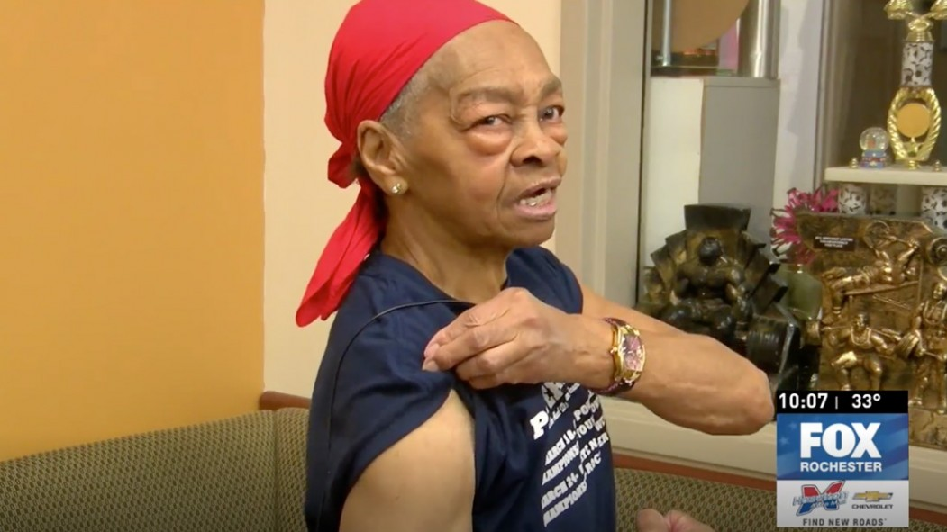 This 82-Year Old Powerlifter Took Down a Home Intruder With a Table thumbnail