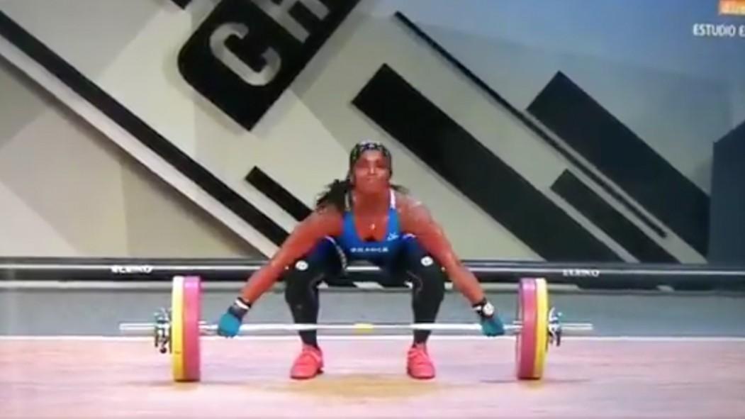 Weightlifter Gaelle Nayo Ketchanke Breaks Arm  thumbnail