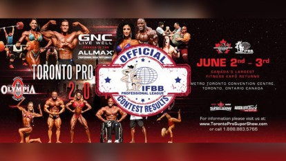 2018 IFBB Toronto Pro Official Scorecards