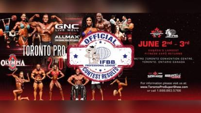 2018 IFBB Toronto Pro Official Scorecards