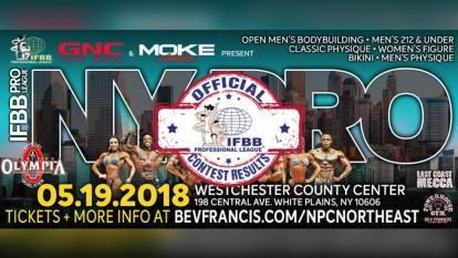 Official Scorecards of the 2018 IFBB New York Pro