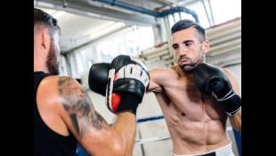 Miniatura de combate de boxeador