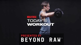 Man Does Dumbbell High Pull Exercise thumbnail