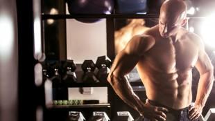 Build-Chest-Workout-Bodybuilder-Resting-Dumbbell-Rack-998035390 thumbnail
