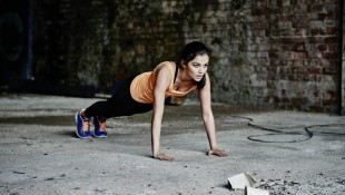 Woman performing pushup thumbnail