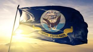 Estados Unidos-Armada-Bandera-En-Amanecer miniatura