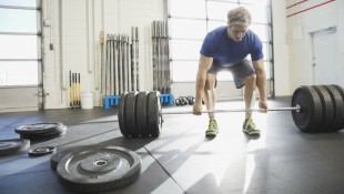 Deadlift barbell at gym thumbnail