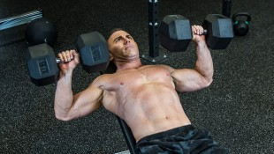 Man Exercising - Dumbbell Bench Press thumbnail