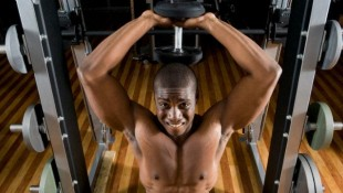 seated overhead triceps extension  thumbnail