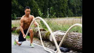 Man Does Rope Tabata Exercise To Strengthen Forearms thumbnail