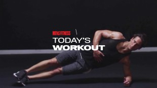 Man Does Side Plank Exercise For Core Workout Routine thumbnail
