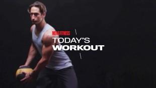 Man does medicine ball diagonal chop during total-body workout thumbnail