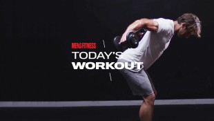 Man Does Dumbbell Reverse Fly Exercise During Back Workout thumbnail