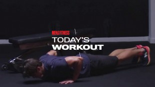 Man Does Pushup During Chest-Building Workout thumbnail