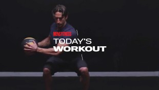 Man Does Medicine Ball Russian Twist Exercise thumbnail
