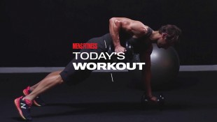 Man Does Renegade Row Exercise During Total-Body Workout thumbnail
