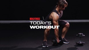 Man Does Dumbbell Snatch Exercise thumbnail