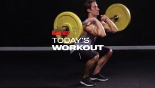 Today's Workout With Mike Simone: The Front Squat And Yoga Pose Combination Circuit thumbnail