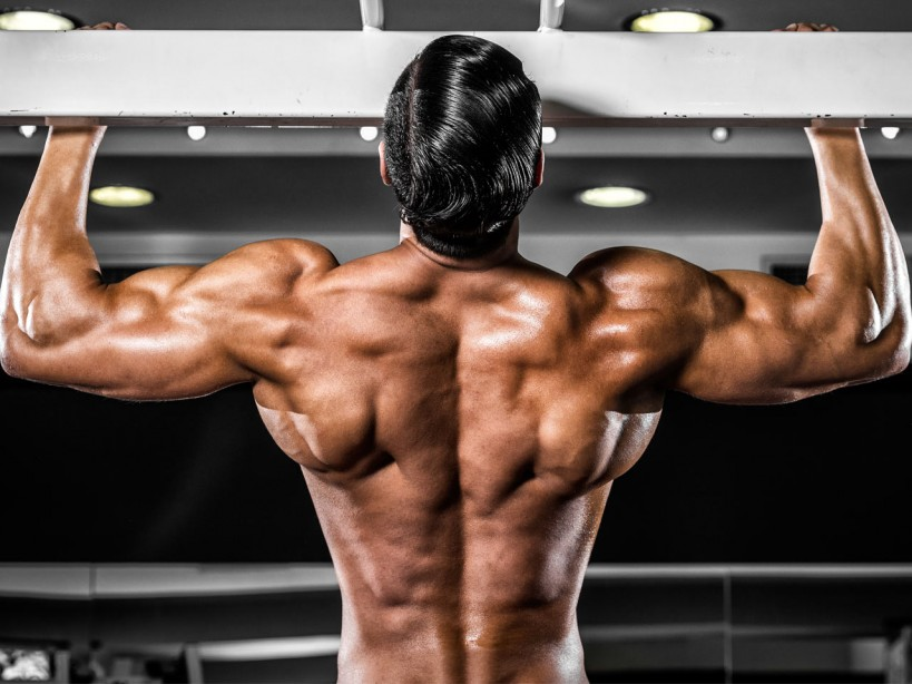 Muscular Man With Wide Back