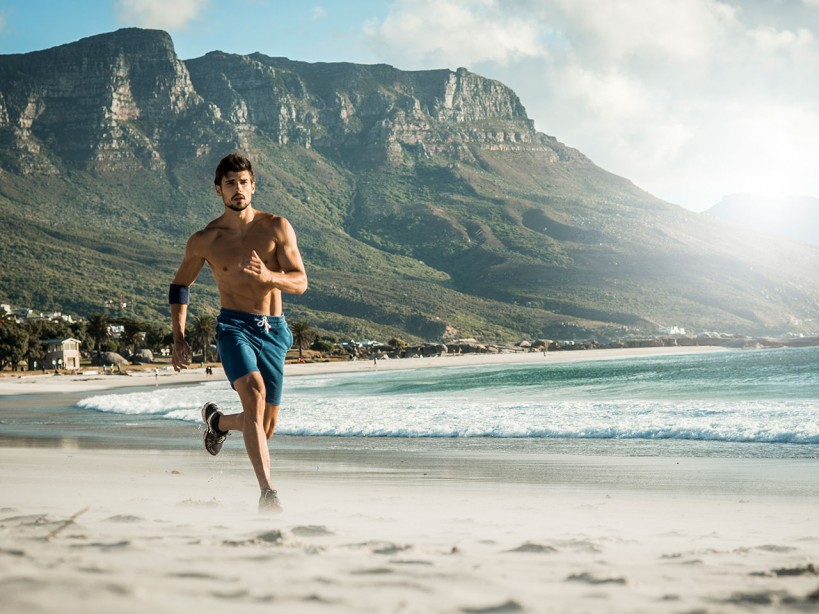 Running on the Beach