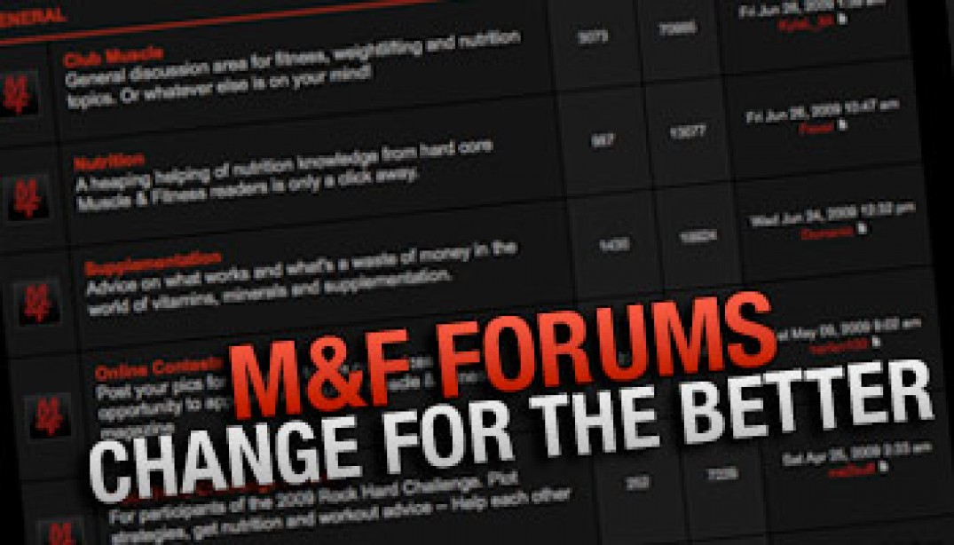 M&F FORUMS CHANGE FOR THE BETTER