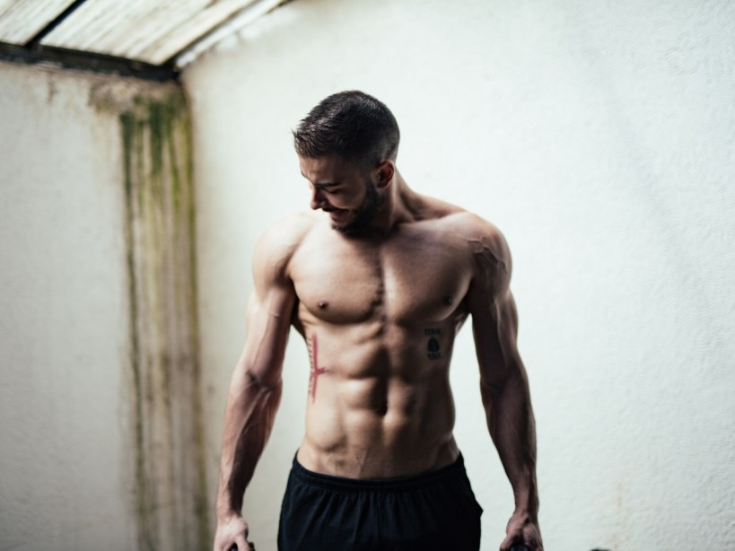 Man with Six-Pack Abs