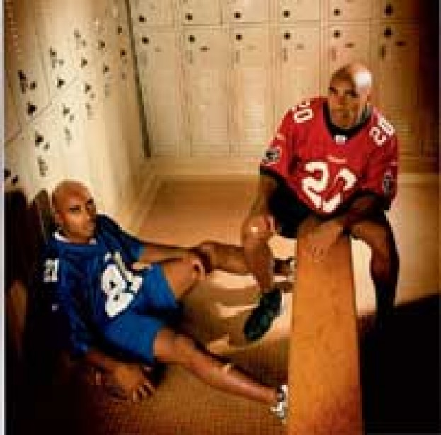 Hard-Hitting NFL Twins, Ronde and Tiki Barber