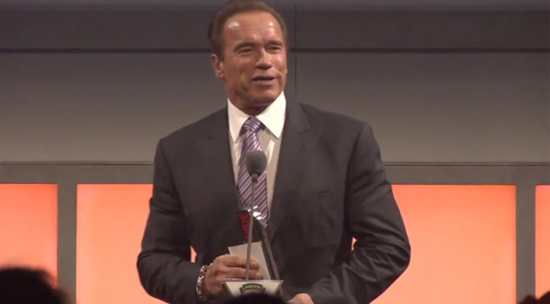 Arnold Gets Lifetime Achievement Award