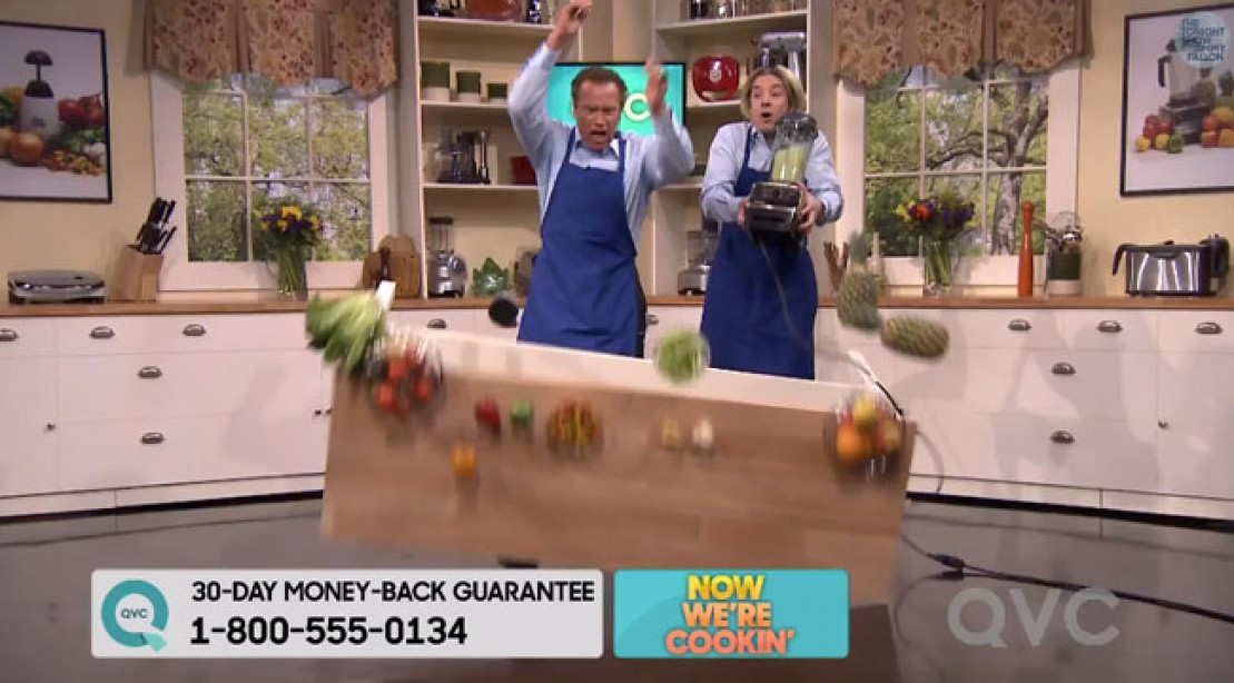 Arnold Stars on 'QVC' With Jimmy Fallon