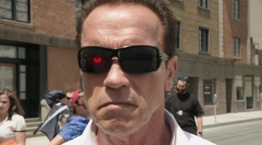 Image of: Funniest Arnold Stars In Funny Video For Youtube Comedy Week Muscle Fitness Arnold Schwarzenegger Promotes Youtube Comedy Week With Funny Video