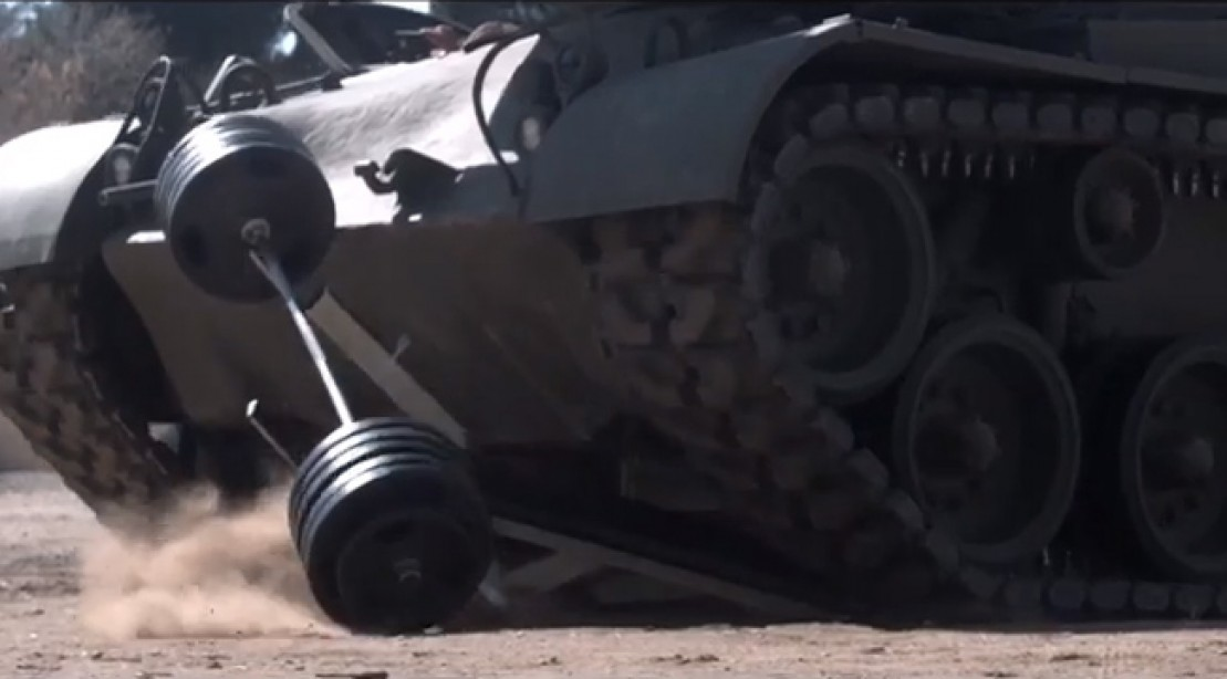 Arnold Crushes Things With His Tank