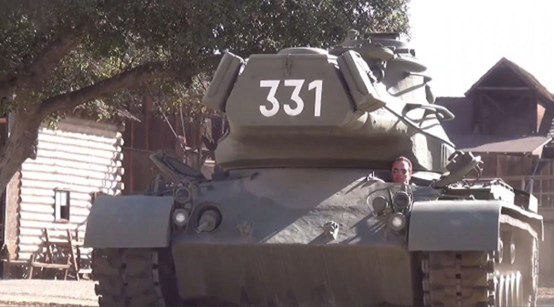 Arnold Schwarzenegger Rocks a Tank for After-School All-Stars