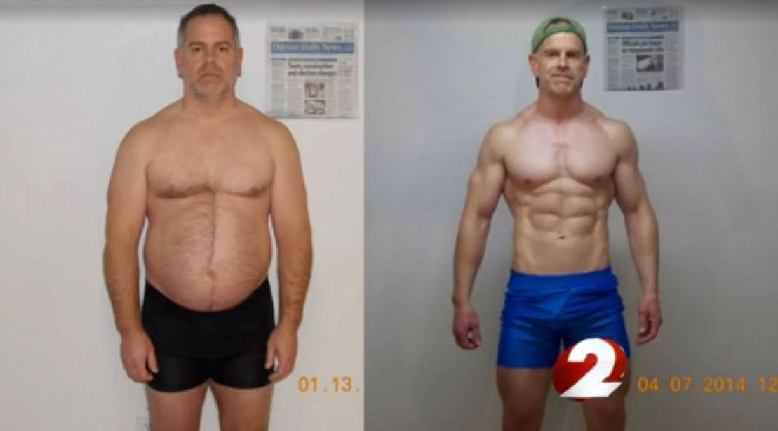 Man Drops 40 Pounds in Impressive Transformation