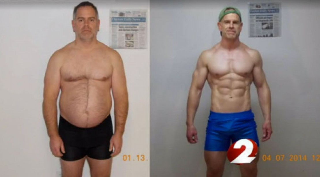weight loss man drops 40 pounds in impressive transformation