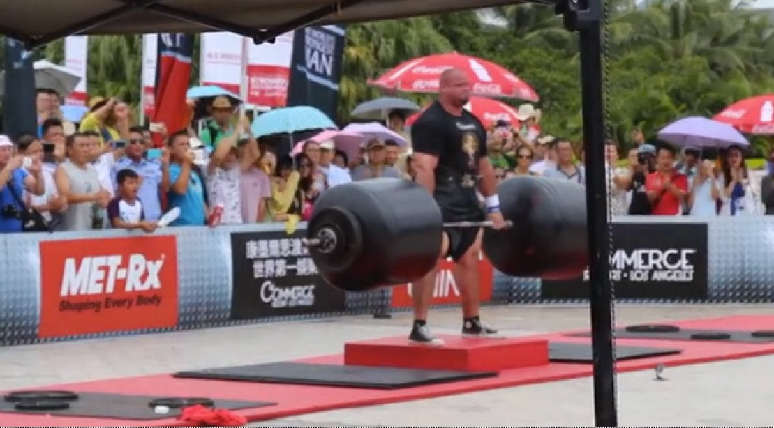 Brian Shaw, the World's Strongest Man, Deadlifts 975 Pounds